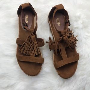 Mossimo brown fringe sandals
